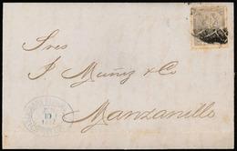 "CUBA. ""1872, 10 June. 25c Blue, To Manzanillo. """"Schumann Reiners"""". Cienfuegos."" - Cuba"
