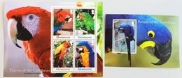 Montserrat 2007** Mi.Klb.1394-97,bl.121  Parrots [26;33]# - Parrots