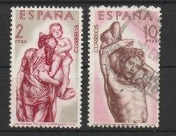 MiNr. 1330,1332  Spanien 1962, 9. Juli. Holzschnitzereien Von Alonso Berruguete (1480 Bis 1561). - 1931-Heute: 2. Rep. - ... Juan Carlos I