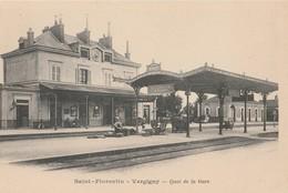 CPA  89 SAINT FLORENTIN VERGIGNY QUAI DE LA  GARE  AVANT 1904 - Stazioni Senza Treni