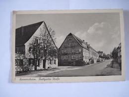 CPA  ALLEMAGNE KORNWESTHEIM Stuttgarter Strabe TBE - Kornwestheim