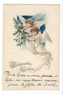 21495 - Deux Anges  Circulée Peseux 1898 - Natale