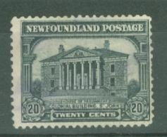 Newfoundland: 1928/29   Publicity Issue [D.L.R.]  SG176a     20c  [Perf: 14-13½]   MH - Newfoundland