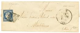 """""""Variété FPANC"""" : 1851 25c CERES(n°4) Variété """"FPANC"""" Sur Lettre Avec Texte De DIE. TB. - 1849-1850 Cérès"""