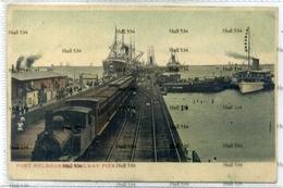Victoria Australia Port Melbourne Railway Pier With White Star Line Ship VSM Series Postcard C.1905 - Melbourne