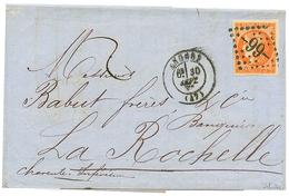 1871 40c BORDEAUX (n°48) Orange Fonçé TB Margé Obl. GC 99 Sur Lettre D' ANGERS. Signé SCHELLER. Superbe Qualité. - 1870 Bordeaux Printing