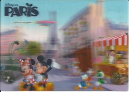 CARTE POSTALE LENTICULAIRE 3D - DISNEYLAND PARIS - Disneyland