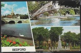 INGHILTERRA - BEDFORD - VEDUTE  - FORMATO PICCOLO - VIAGGIATA 1972 FRANCOBOLLO ASPORTATO - Bedford