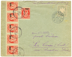BAVARIA : 1909 2pf Canc. MUNCHEN On Envelope To LA CANEE (CRETE) Taxed On Arrival With GREEK POSTAGE DUES 1l(x5) + 5l Ca - Crète