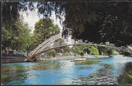 INGHILTERRA - BEDFORD - THE SUSPENSION BRIDGE  - FORMATO PICCOLO - VIAGGIATA 1972 FRANCOBOLLO ASPORTATO - Bedford