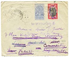 1931 ETHIOPIA 2g + 1M C. DIRE-DOUA On Cover To HOUEISAI LAOS Redirected To FRANCE. Rare Destination. Vf. - Ethiopie