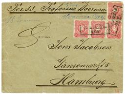 "LIBERIA - MARITIME Mail : 1887 GERMANY 10pf(x4) Canc. AUS WESTAFRICA + ""MONROVIA 13/9/87 On Envelope (double Rate) To HA - Liberia"