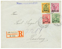 1902 GERMAN LEVANT P./Stat 20p + 10p+ 20p+ 1P 1/4 Canc. JAFFA Sent REGISTERED To HAMBURG. Vvf. - Palestine
