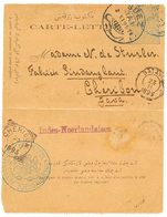 "SAUDI ARABIA - CONSULAR Mail : 1895 TURKEY P./Stat 1P Datelined ""DJEDDAH"" To CHERIBON (NETHERLAND INDIES). Verso, Extrem - Arabie Saoudite"
