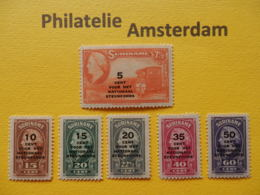 Suriname 1945, NATIONAAL STEUNFONDS: Mi 268-73, NVPH 214-19, ** - Surinam ... - 1975