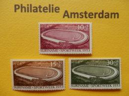 Suriname 1953, OPENING STADION / SPORTWEEK: Mi 343-45, NVPH 309-11, ** - Surinam ... - 1975