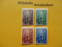Suriname 1954, JEUGDWERK: Mi 347-50, NVPH 312-15, ** - Suriname ... - 1975
