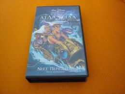 Walt Disney Atlantis Milo's Return - Old Greek Vhs Cassette From Greece - Children & Family