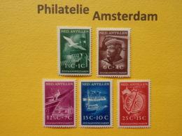 Netherlands Antilles 1952, ZEEMANSWELVAREN / SHIPS: Mi 34-38, NVPH 239-43, ** - Curaçao, Nederlandse Antillen, Aruba
