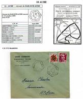 Poste Automobile Rurale De L'Aube Circuit De Bar Sur Aube CP N°3 Maisons - Manual Postmarks