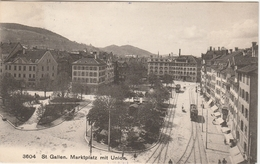 Suisse, St. Gallen . Marktplatz Mit Union . - Suisse