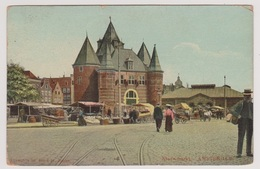 Amsterdam - Nieuwmarkt Met Volk - Tulpkaart 1906 - Amsterdam