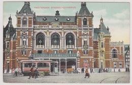 Amsterdam - Stadsschouwburg Met Tram En Volk - Amsterdam