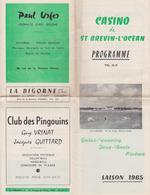 842 _ 44 - ST BREVIN L'OCEAN . PROGRAMME CASINO DE 1965 .GALA LE 22/07/65 SYLVIE VARTAN.NOMBREUSES PUBLICITES - Saint-Brevin-l'Océan