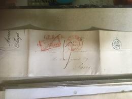 Lettre Anvers Pour Paris 1834 Belgique Par Valenciennes + Cachet Verso - 1830-1849 (Belgique Indépendante)