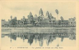 Angkor-Vat (Cambodge) - Temple - Vue Générale Du Groupe Des Cinq Tours - Carte N° 3 Non Circulée - Cambodge