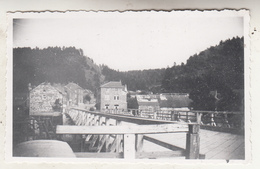 Hamoir - Pont Provisoire Sur L' Ourthe - Et Route Vers Filot Et My. Juillet 1946 - Photo Format 7 X 11 Cm - Luoghi