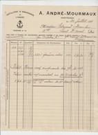 JUMET HOUBOIS - DISTILLERIE ET VINAIGRE DE L ANCRE - A. MOURMAUX - 1911 - Alimentaire