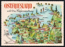 C2857 - TOP Ostfriesland - Landkarte Friesland - Orania - Wilhelmshaven