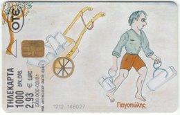 GREECE E-220 Chip OTE - Cartoon - Used - Greece