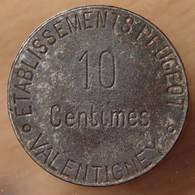 Valentigney (25) 10 Centimes Etablissement Peugeot - Monétaires / De Nécessité