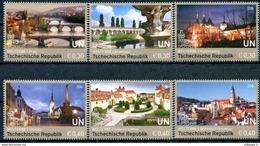 ONU Vienne 2016 - UNESCO - Patrimoine Mondial République Tchèque - 6 Timbres Détachés De Carnets De Prestige ** - Wien - Internationales Zentrum