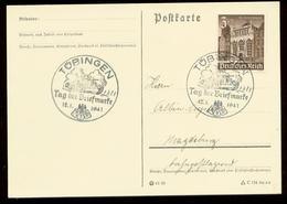P0571 - DR Postkarte : Gebraucht Mit Sonderstempel Panzer,Tag Der Briefmarke ,Tübingen 1941 - Germania
