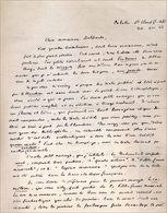 Lettre De Franz Hellens, 1962 - Autographes