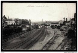 CPA ANCIENNE FRANCE- LUNÉVILLE (54)- VUE GENERALE DE LA GARE- LE TRIAGE- NOMBREUX TRAINS- - Luneville