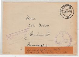 Germany Reich Frei Durch Ablösung - Deutsche Reichsbahn Letter Cover Travelled 1944 Dortmund B190210 - Germany