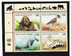 SRO146 UNO GENF 1993 MICHL 227/30 GEFÄHRTERTE ARTEN Postfrisch ** - Genf - Büro Der Vereinten Nationen