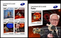 NIGER 2018 **MNH Parker Solar Probe Sun Corona Sonne Korona M/S+S/S - OFFICIAL ISSUE - DH1851 - Space
