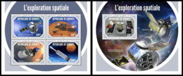 DJIBOUTI 2018 MNH Space Exploration Raumfahrt Exploration Spatiale M/S+S/S - OFFICIAL ISSUE - DH1903 - Space