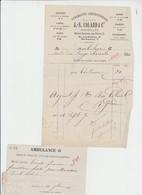 GUERRE 1870 - FACTURE - CONFECTION VÊTEMENTS COLARD - BXL - AMBULANCE G - 1870 - Documents Historiques