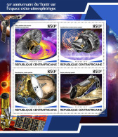 CENTRAL AFRICA 2017 ** Outer Space Treaty Weltraumvertrag Espace M/S - OFFICIAL ISSUE - DH1748 - Space