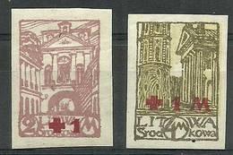Republic Of Central Lithuania 1921 Mi 29-30B Fi 29-30A MNH ( PZE3 LTS29-30B ) - Churches & Cathedrals