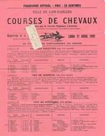 49 - LION-D'ANGERS - Programme  Des Courses De Chevaux Du 17/04/1922 ( 1 Page Format 21 Cm X 27,5 Cm )     Rare - Programmes