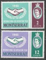 Montserrat. 1965 International Cooperation Year. MH Complete Set. SG 177-178 - Montserrat