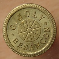 Besançon (25) 25 Centimes G.JOLY Bon à Consommer - Monétaires / De Nécessité