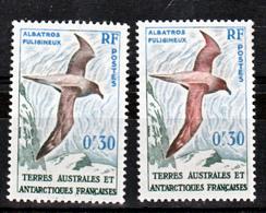 TAAF    12  Variété Albatros Noir Et Normal Neuf ** MNH Sin Charmela - Neufs